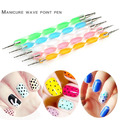 5pcs 2way Nail Art Tools Dotting Pen 3D Pen Painting Manicure Tools UV Gel Nail Art Brush UV Gel Nail Polish