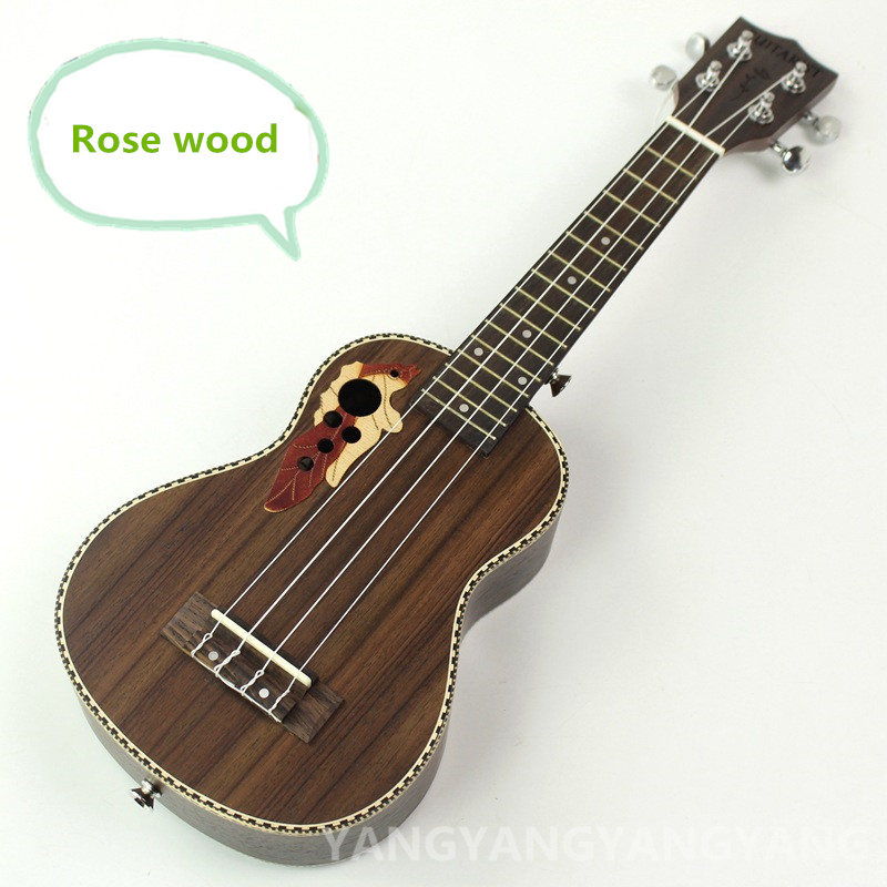 Soprano Ukulele Rosewood 21 Inch Hawaiian Guitar 4 Strings Ukelele Guitarra Handcraft Wood White Guitarist Musical Uke soprano concert acoustic electric ukulele 21 23 inch guitar 4 strings ukelele guitarra handcraft guitarist mahogany plug in uke