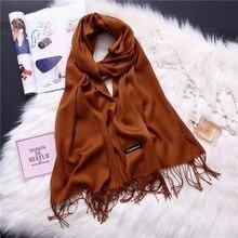 2019 Winter classic solid scarf Cashmere Shawl Ladies shawl