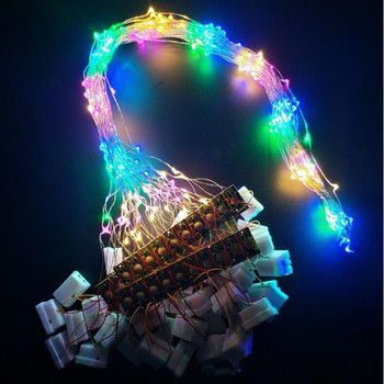 Colorful DIY Handmade Blinking Leds String Light for Flower Garland Accessories Wreath Lamp Glow Party Supplies