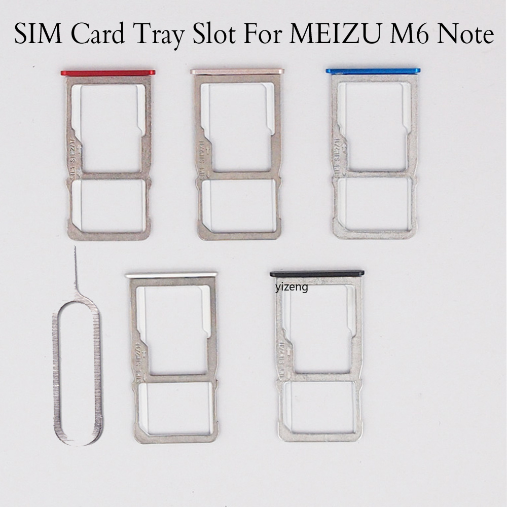 New For Meizu M6 Note SIM Card Tray Holder Replacement Parts SIM Card Slot Holder Sim Cards Adapters For Meizu M6note