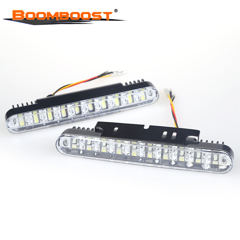 2x 30 LED Car Daytime Running Light DRL Daylight Lamp with Turn Lights Universa