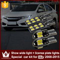 Noite senhor 4 pcs livre de erros t10 w5w largura da placa de licença luzes apuramento carro luz do carro levou para honda city 2008-2015