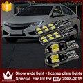 Señor de la noche 4 unids anchura t10 sin error w5w liquidación de coches luces de la matrícula del coche luz led para honda city 2008-2015