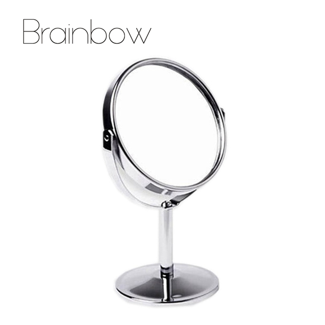 double sided makeup vanity table make up mirror standing metal compact mirrors make up portable. Black Bedroom Furniture Sets. Home Design Ideas