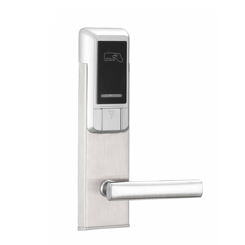 Korea digital door lock electric sliding door locks RFID electronic hotel lock using magnetic card high class digital electronic rfid card hotel door handle locks with master card key options et820rf