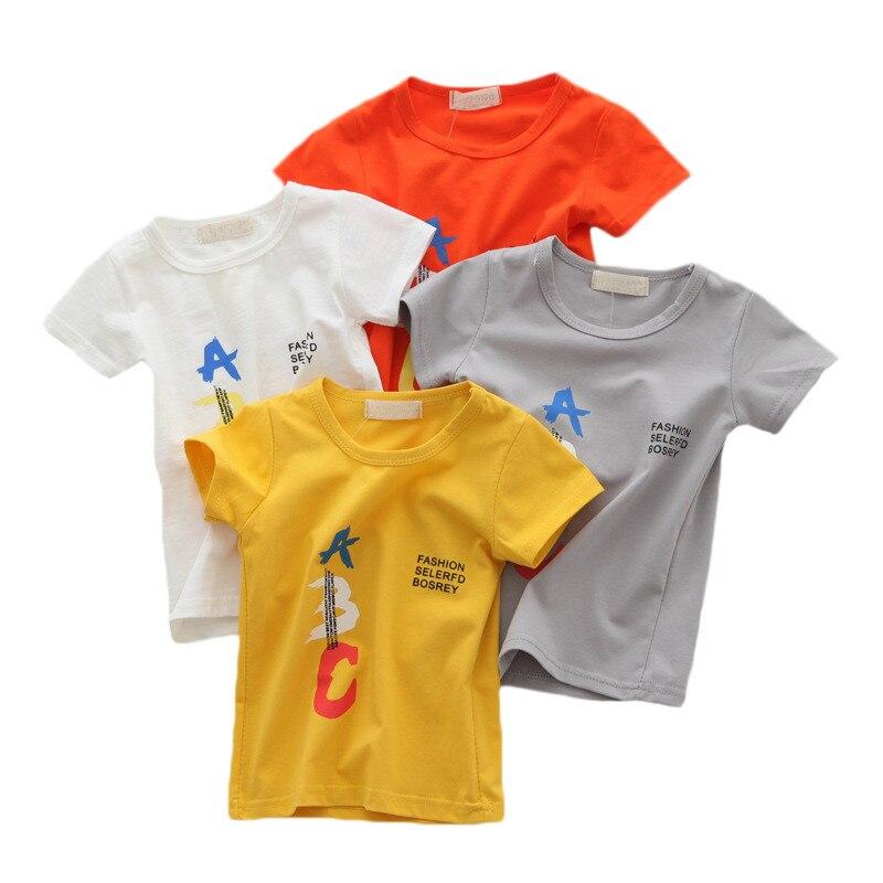 Cartoon Auto Baby Jongens T-shirts Zomer Baby Korte Mouw Tops Mode Baby Boy Kleding Kinder T-shirts Voor Jongens