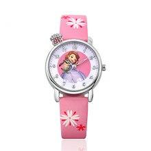 Mignon de Mode enfants montres Quartz En Cuir Montre-Bracelet pour fille Horloge Minuterie montre Bébé Relogios bayan kol saati