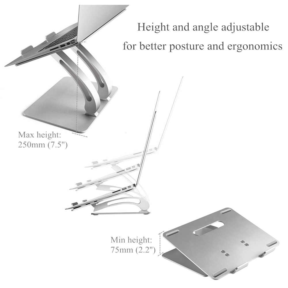 מחשב נייד אלומיניום Stand גובה/Anlge תכליתי מתכווננת טבליות ספר מחברת קירור מחזיק עבור Macbook Air Pro 11-17 אינץ