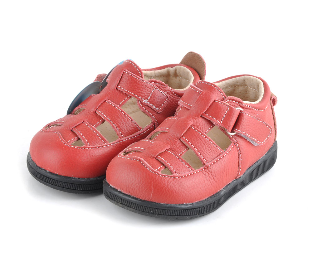 0e40d628b7d69 baby sandals soft leather shoes solid black closed toe boys sandals girls  sandals red genuine leather