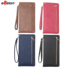 EFFelon Slim wallet with slot multi-functional 6.3 inch men wallet phone coin pocket zipper bag female wallet long