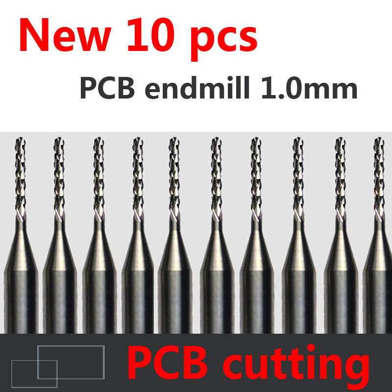 10pcs Carbide PCB CNC Engraving Bits End Milling Cutter cutting drill hole endmill 1.0mm Diameter # ST3.107 free shipping carbide pcb cnc engraving bits carbide end milling cutter cutting drill hole endmill
