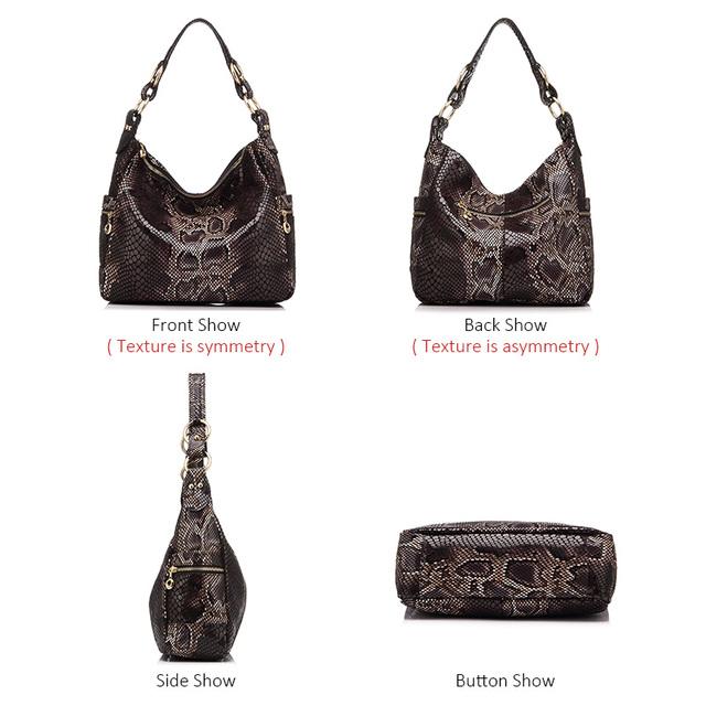 Kvinder håndtaske ægte læder tote