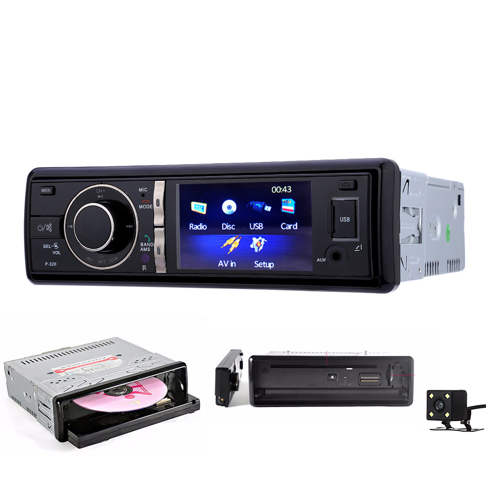 Zeepin 1Din Car DVD Player Bluetooth Car Radio Fm USB Charger Panel Remove Auto Car MP3 CD Player Audio Stereo Microphone 1563u 1 din 12v car radio audio stereo mp3 players cd player support usb sd mp3 player aux dvd vcd cd player with remote control
