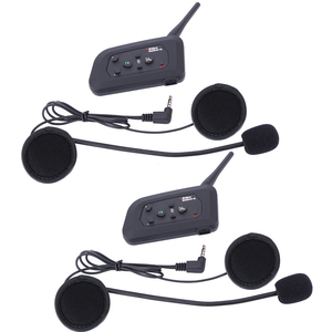 Image 3 - 4 قطعة Fodsports V4 خوذة للدراجات النارية اتصال داخلي سماعة رأس بخاصية البلوتوث 4 راكبين 1200 متر لاسلكي Intercomunicador BT راديو FM