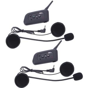 Image 3 - 4pcs Fodsports V4 Motorcycle Helmet Intercom Bluetooth Headset 4 Riders 1200M Wireless Intercomunicador BT Interphone FM radio