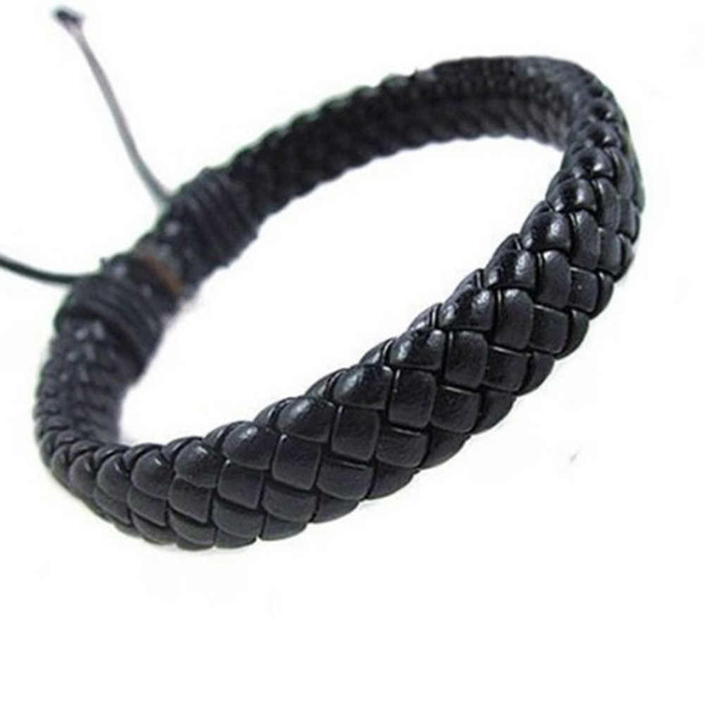 2019 новый модный кожаный браслет для мужчин и женщин ручной работы Веревка Цепи удобный винтажный черный коричневый браслет Pulseras Hombre