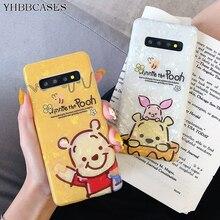 YHBBCASES para Samsung Nota 10 8 9 moda Concha funda del teléfono Shell para Samsung Galaxy S10 5G S8 S9 Plus de oso de dibujos animados de los casos