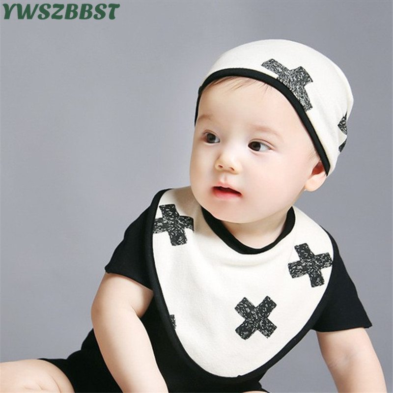 New Fashion Baby Bibs Cotton Baby Boy Girl Cap 0-12 Months Infant Hat Set Toddler Saliva Bibs Bandana Bibs Customers First Mother & Kids