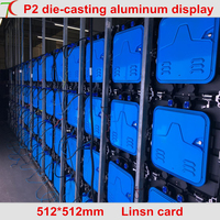 Нормальный меньше пикселей P2 indoor 512*512 мм 32 сканирования литья алюминия кабинет для HD реальные СВЕТОДИОДНЫЙ дисплей, 1600cd