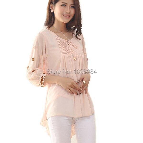 korean style women blouses and shirts puff peplum top mori girl plus size  women clothing kimono shirt women tops blusas WD195 c7bf334d13a2