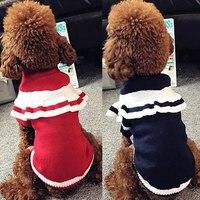 Benmei حار بيع كلب القط الملابس البحرية كلب الشتاء سترة صغيرة كبيرة متماسكة كنزة بلدغ تشيهواهوا تيدي