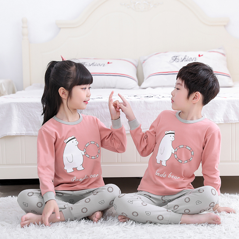 Kids Girls Sleepwear Winter Cotton Pajamas Sets Children Homewear For Boy Pyjamas Kids Nightwear 2-13Y Teens Sleep Clothes Suit