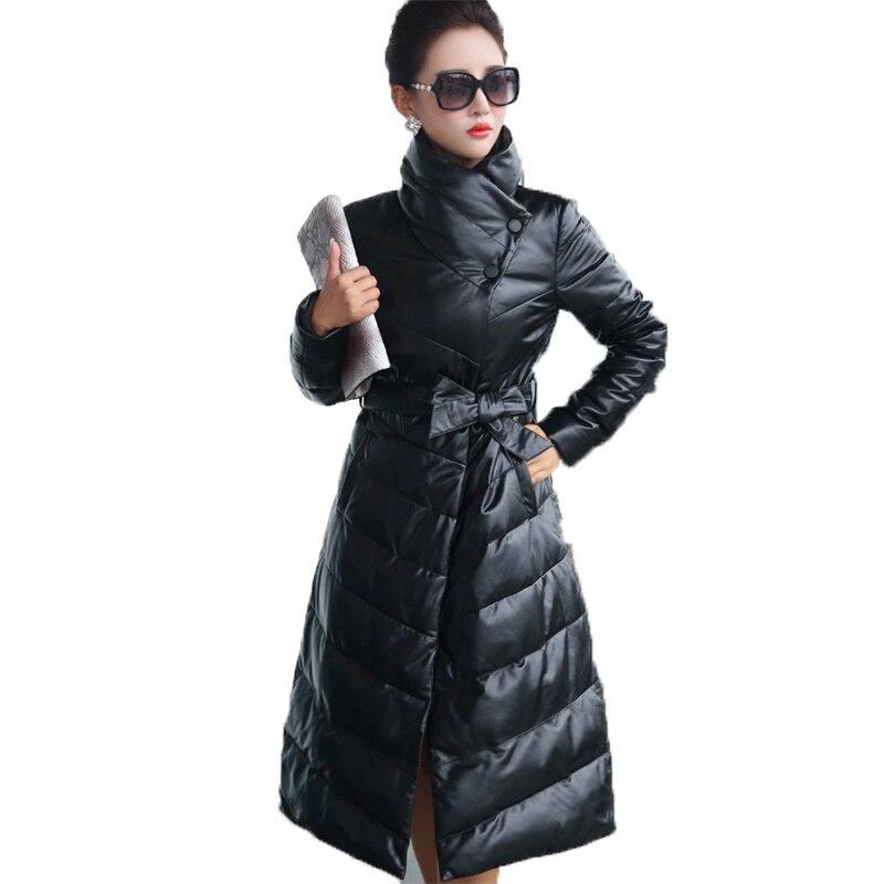 Duvet Femmes Black Véritable Mouton Vintage Blanc Réel Veste Peau En Manteau Automne De Vêtements Cuir Zt1202 D'hiver Coréenne 2019 Canard qwnPB1Tx