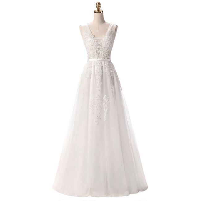 Robe De Soiree SSYFashion, кружевное, с бисером, сексуальное, с открытой спиной, длинное вечернее платье, для невесты, банкета, элегантное, длина до пола, для вечеринки, выпускного вечера - Цвет: White
