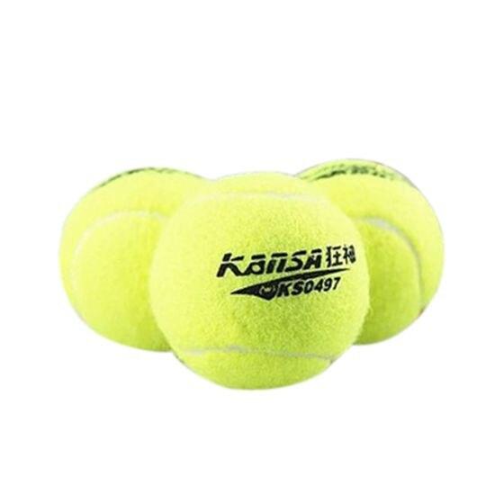 3 PCS Professional Training Grade Sports Tennis Balls Fluorescent Green