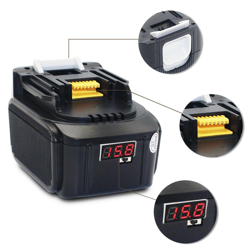 14.4V 6000MAh BL1430 Li-ion Battery for MAKITA Drills DA340DRF 194065-3 194066-1 BHP440RFE BML145 USB LED Indicator bl 5c gd 3 7v 2450mah li ion battery for nokia 1100 1101 1100 1108 1160 more golden