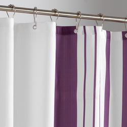 high quality Polyester Yulian Purple Vertical Striped Waterproof Moisturizing Thickening Shower Curtain Increased Lead Line