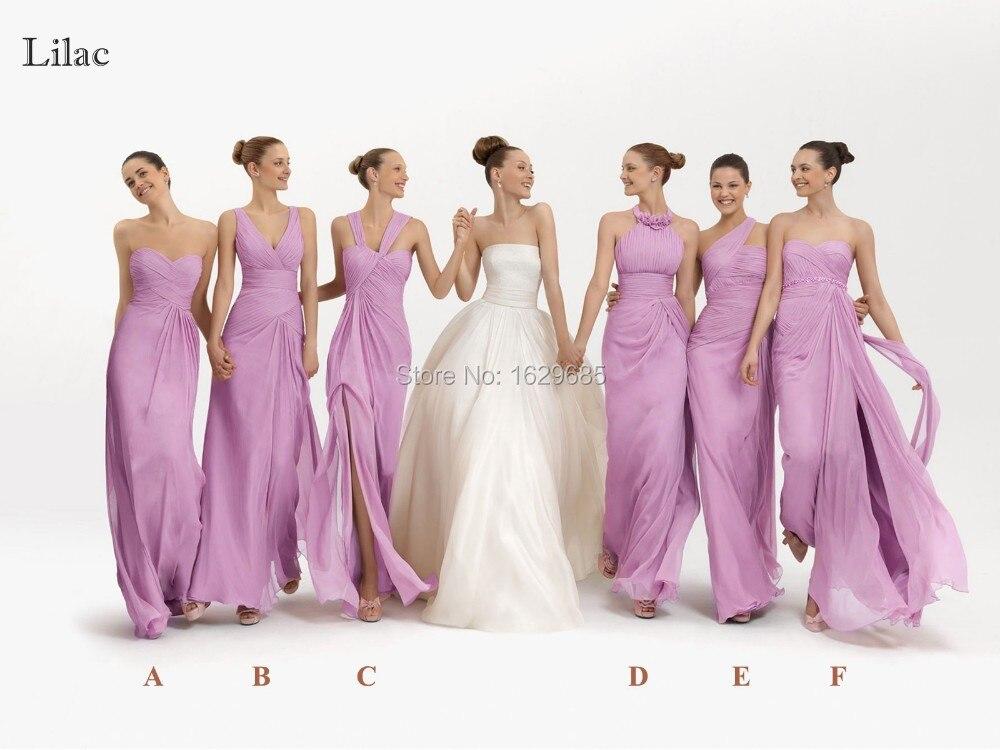 Light Lilac Bridesmaid Dresses