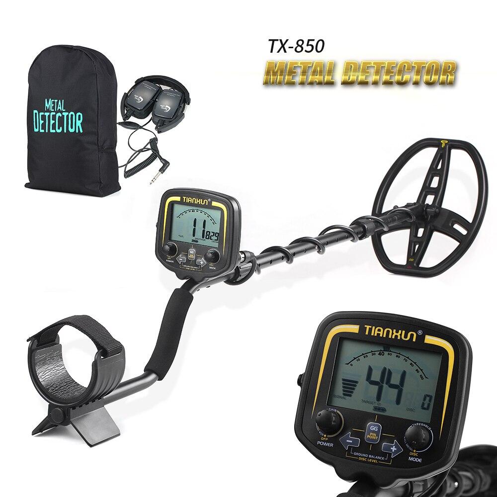 Haute Sensibilité Haute Performance Détecteur De Métal TX-850 Métro Metal Detector Treasure Hunter Métal Finder Outil + Écouteurs