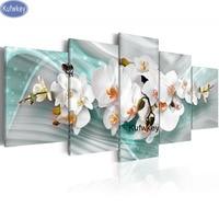5pcs 5D,diy,Diamond Painting blue orchid,Full,Diamond Embroidery,3d picture,Cross Stitch,Diamond Mosaic,home decoration painting