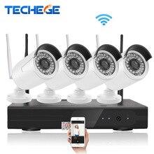 Techege 4CH NVR Наблюдения 1080 P 1080 P WIFI IP Камера 2.0MP беспроводной комплект Беспроводной Камеры Системы ВИДЕОНАБЛЮДЕНИЯ P2P onvif камеры ВИДЕОНАБЛЮДЕНИЯ система