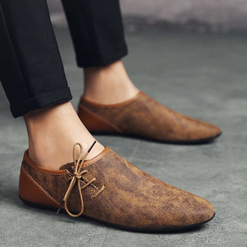 High Quality Leather Casual Shoes Comfortable Slip-On Loafers Light Driving Shoes Zapatillas Hombre Fashion Summer Men Shoes