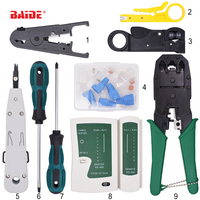 9 in 1 Ethernet Cable tool RJ11 RJ45 Cat5 Cat6 Crimp network Cable crimping Crimper pliers tool set kit network tool 50set/lot