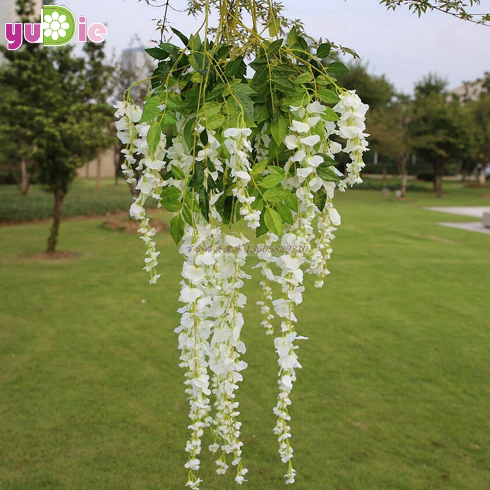 10pcs Romantic Artificial Silk Wisteria Hanging Flowers Hanging