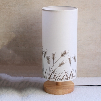 Free Shopping LED Table Lamp Wood Plastic Rustic Style Living Room Bedroom Decor Lighting Modern Lampshade E27 LED 110/240V