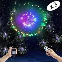 VNL LED Copper Wire Explosion String Light With Remote Control Fairy Twinkle Lights Hanging Light For Bedroom Wedding Garden