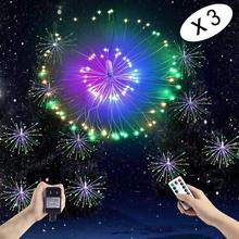 VNL LED Filo di Rame Stringa Esplosione di Luce Con Telecomando di Controllo Fata Scintillio Luci a Sospensione Per La Camera Da Letto di Nozze Giardino