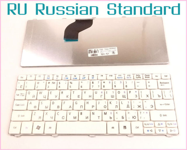 Laptop Keyboard for Acer Aspire One Happy happy2 RU Russian Version White