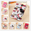 New fashion cartoon Mickey mouse Pu leather case cover Flip Stand Smart Cover For Apple ipad mini ipad mini2 mini 3 mini 4 Case