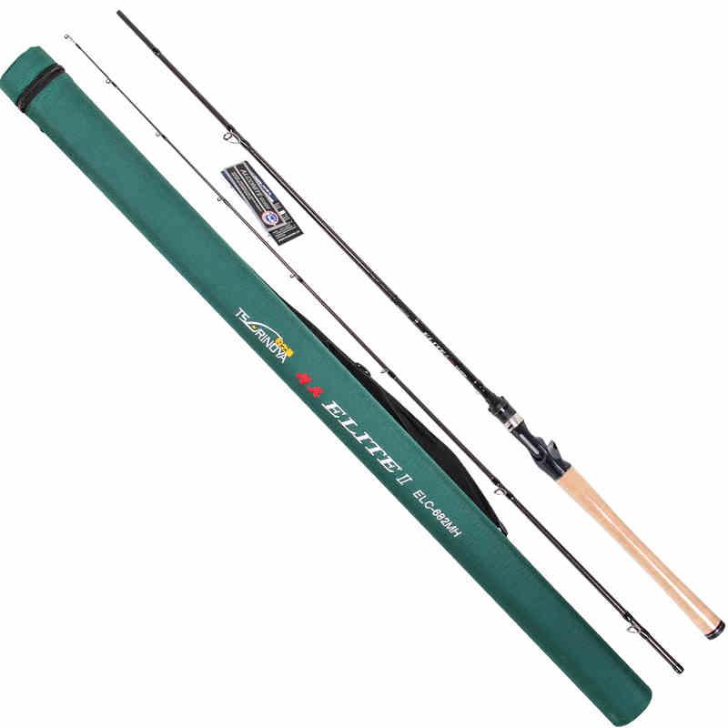 Tsurinoya Carton rod 2.03M 2 Sections bait casting fishing rod lightweight 99% carton MH Power 7-28g lure rod FUJI Guide Ring