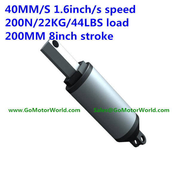 цена на 40mm/sec 1.6inch/sec speed 200N 20KG 44LBS load 200mm 8inch stroke 12V 24V DC High speed linear actuato LA13