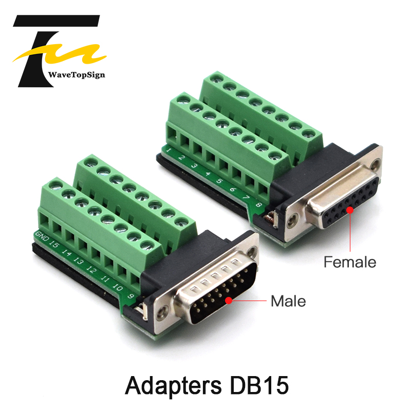 <font><b>DB15</b></font> 15Pin Adapter RS232 Serial Signals Terminal Module Interface Converter To Terminal <font><b>DB15</b></font> Connector Male Female <font><b>D</b></font> <font><b>sub</b></font> image