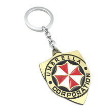 Resident Evil umbrella corporation keychain action figure toys 2017 New Resident Evil umbrella corporation car key ring styling