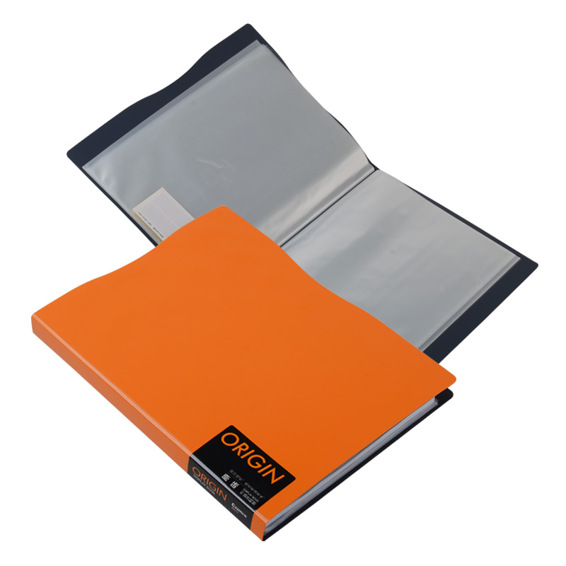Blue Red Green Pvc Plastic Folder File With Clear Pockets