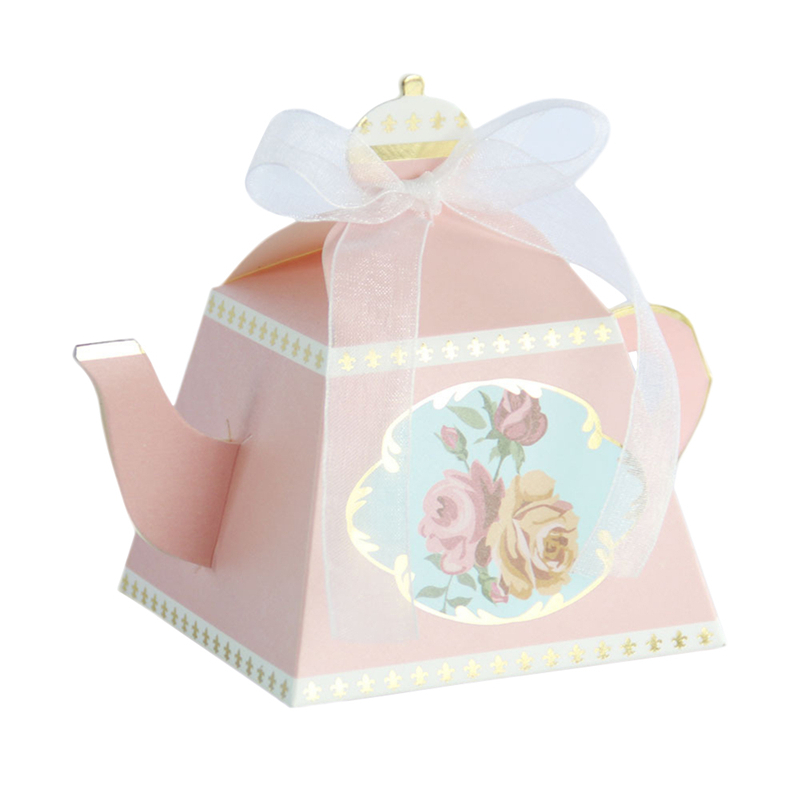 10pcs Cute New Design Royal Teapot Candy Box Personality Retro Candy Box for Wedding Party Favors And Gifts Party Supplies